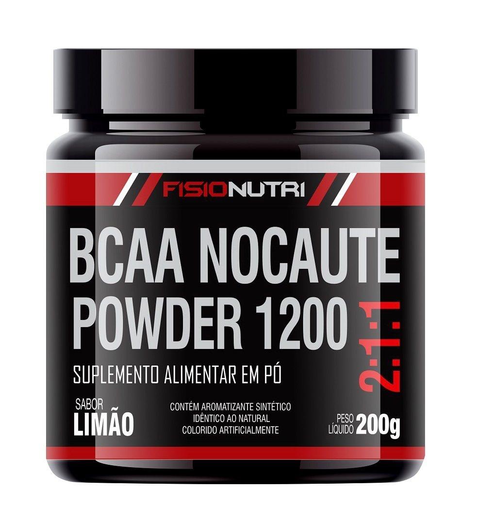 BCAA NOCAUTE POWDER 1200 - SUPLEMENTO EM PÓ 200G - LIMÃO
