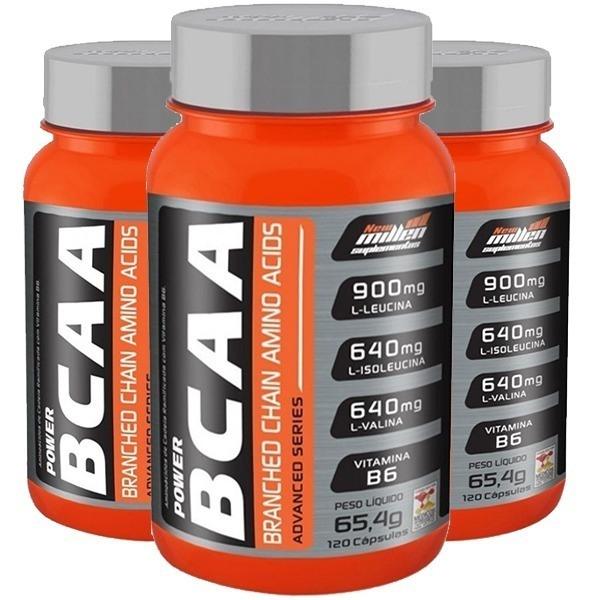 Bcaa Power Advanced Series Pote 120Caps New Millen
