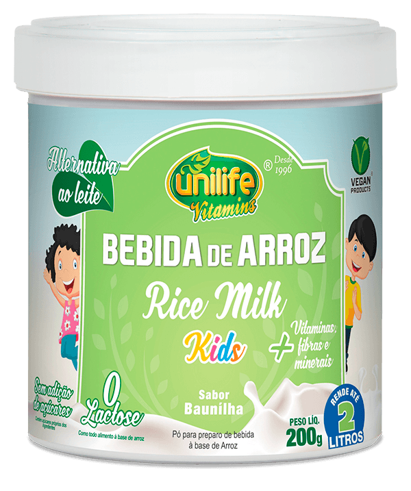 Bebida de Arroz Rice Milk Kids Baunilha 200g Unilife