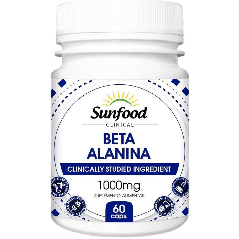 Beta Alanina 1000 mg 60 Cáps. Sunfood