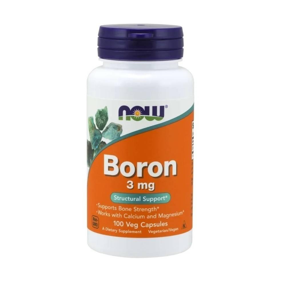 Boro Quelato Boron 3 mg 100 Cáps. Now Foods