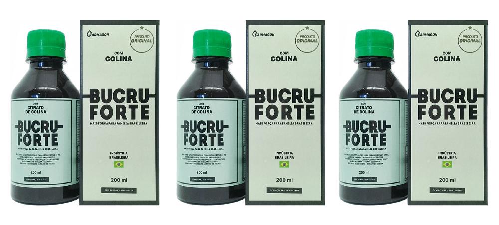 Bucru Forte 200ml Kit 3 Unidades