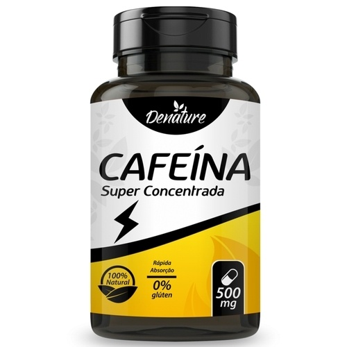 CAFEÍNA SUPER CONCENTRADA - 100 CÁPSULAS 500MG