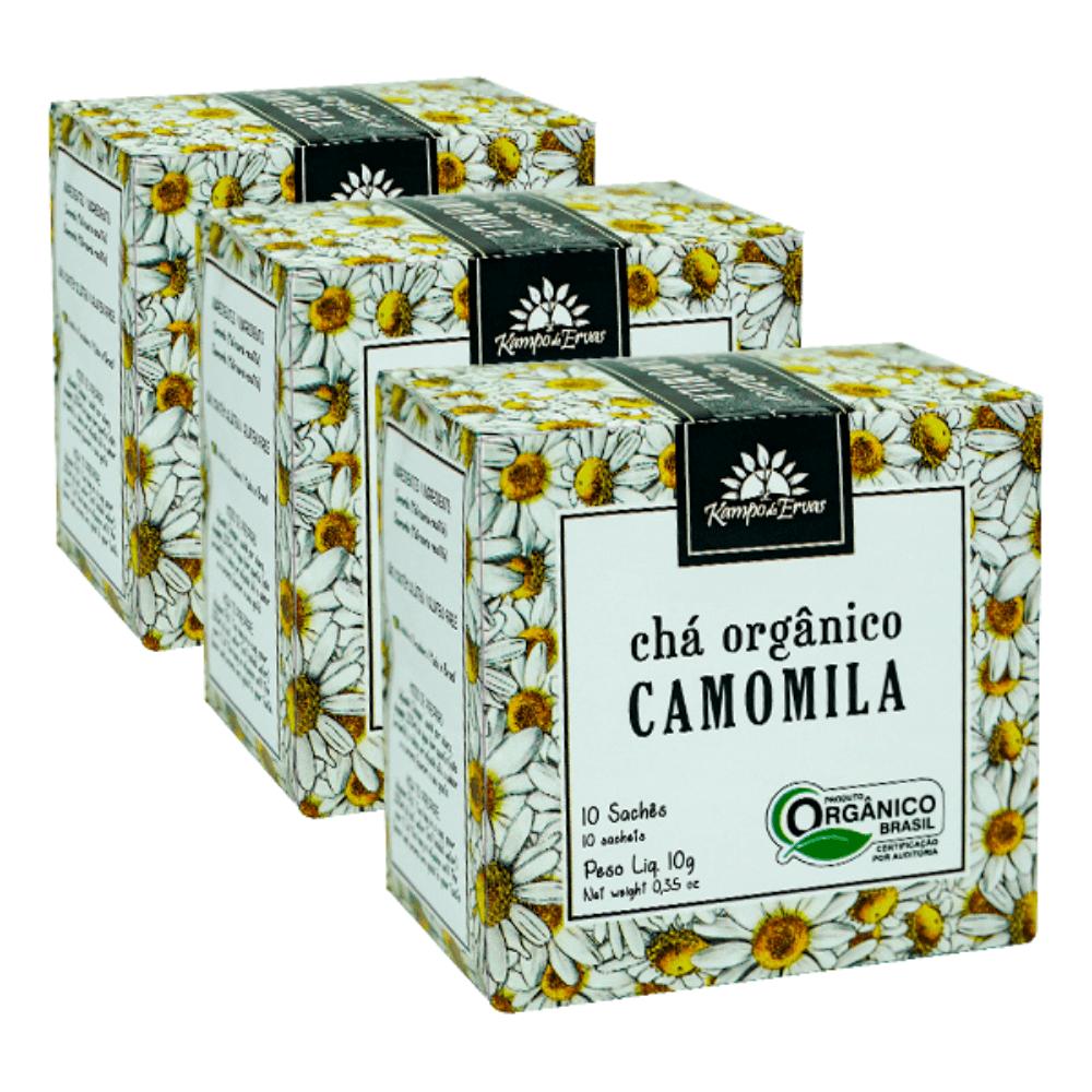Camomila Chá Orgânico e Certificado Kampo de Ervas 30 sachês