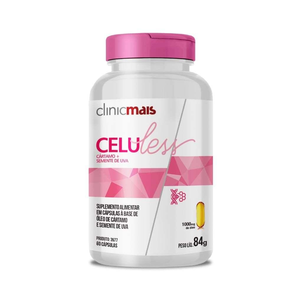 Celuless 60 Cápsulas (Cártamo + Semente de Uva) 1000mg