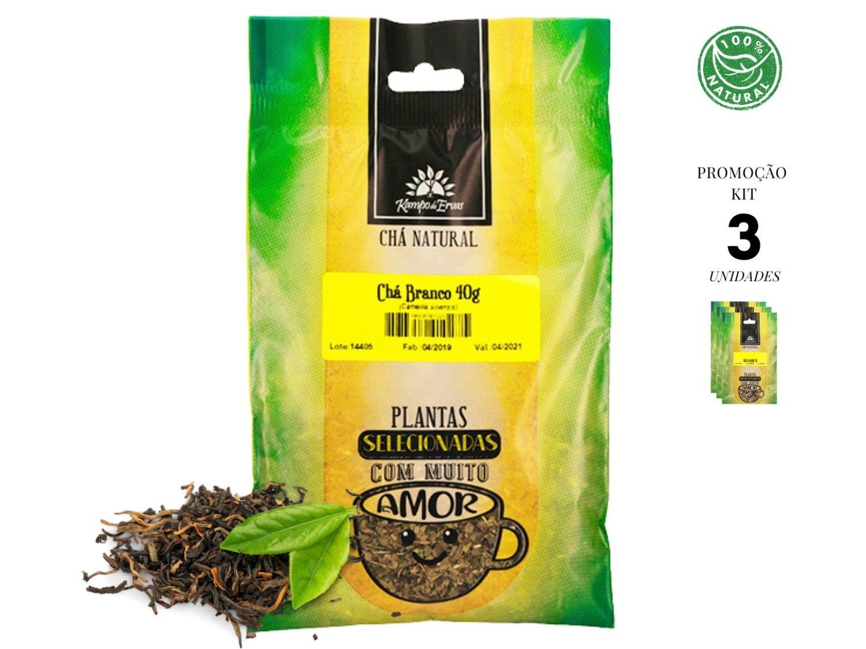 Chá Branco Folhas Novas e Brotos Kampo de Ervas 3und 40g cad