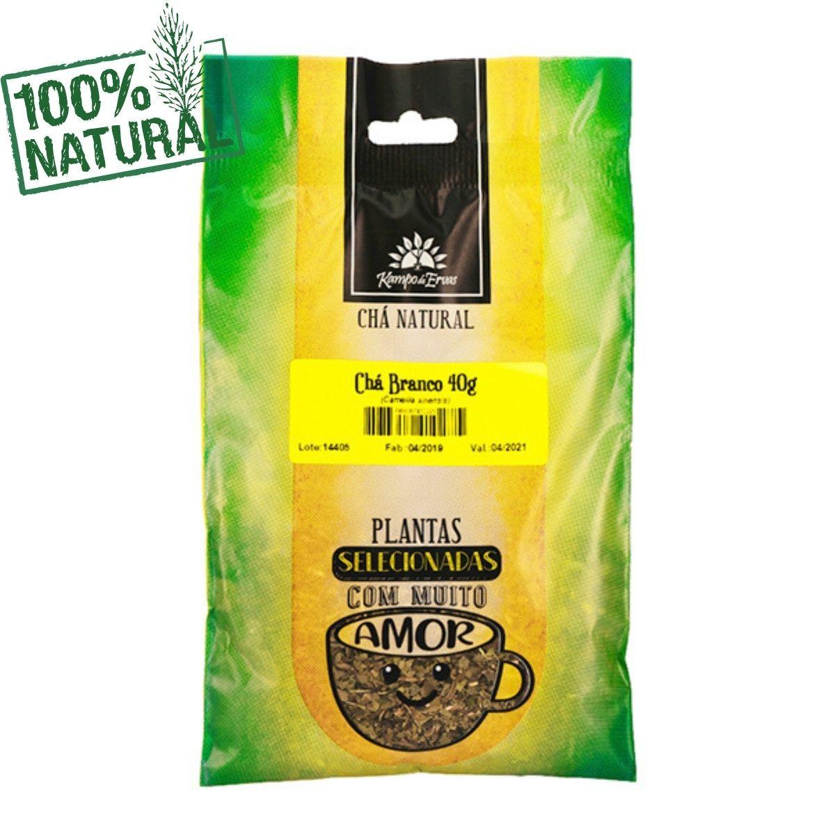 Chá Branco Natural Folhas Novas e Brotos Kampo de Ervas 40g