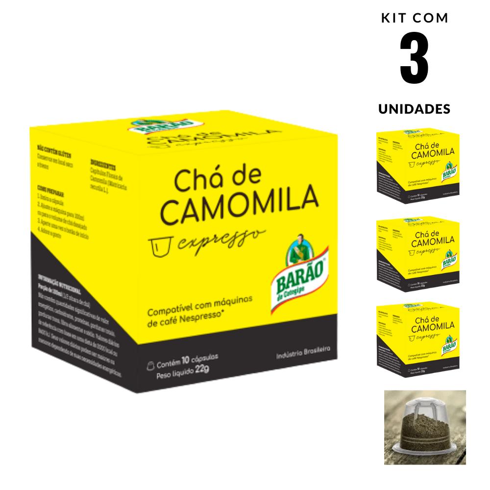 Chá Camomila Cápsula Barão Cotegipe Expresso 30 Cápsulas 66g