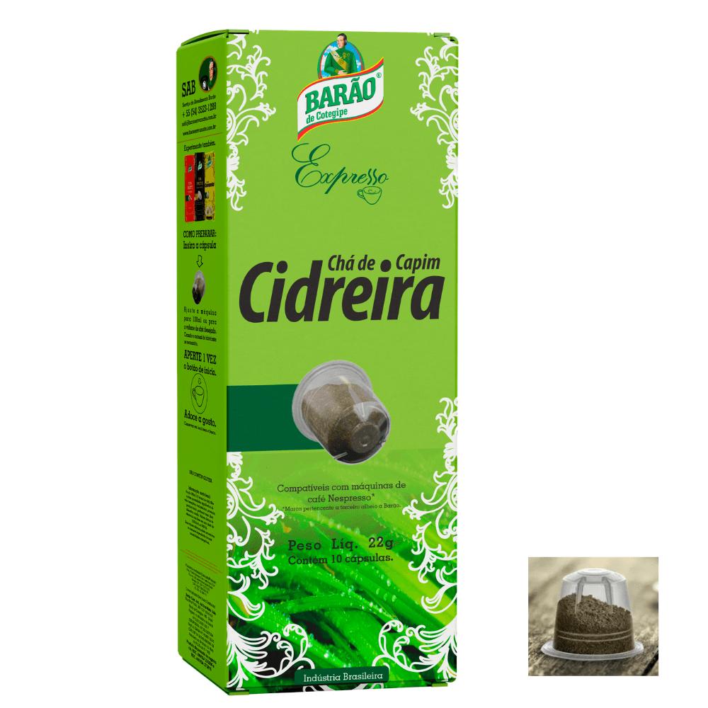Chá Capim Cidreira Cápsula Barão Cotegip Expresso 10cáps 22g