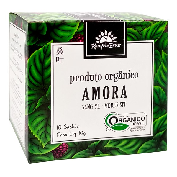 Amora Chá Orgânico Certificado Kampo de Ervas 10 sachês