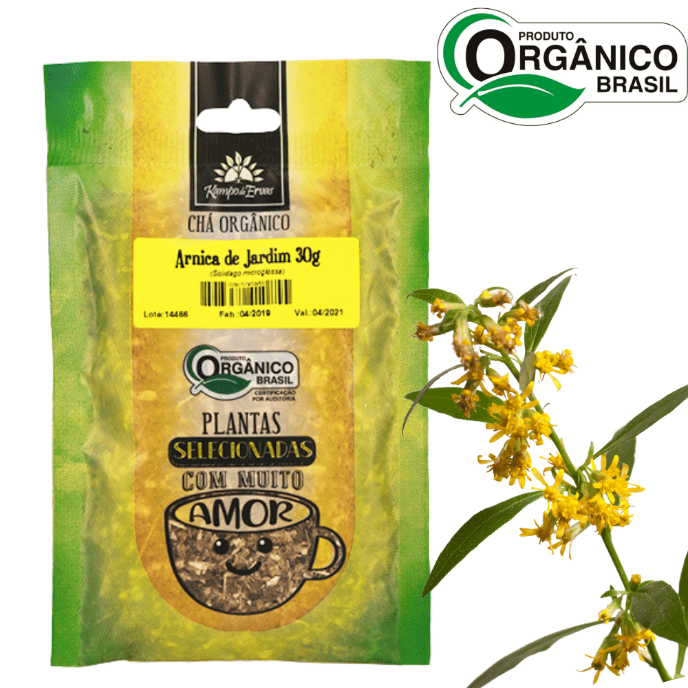 Chá de Arnica de Jardim 100% Folhas 30g Orgânica e Certific