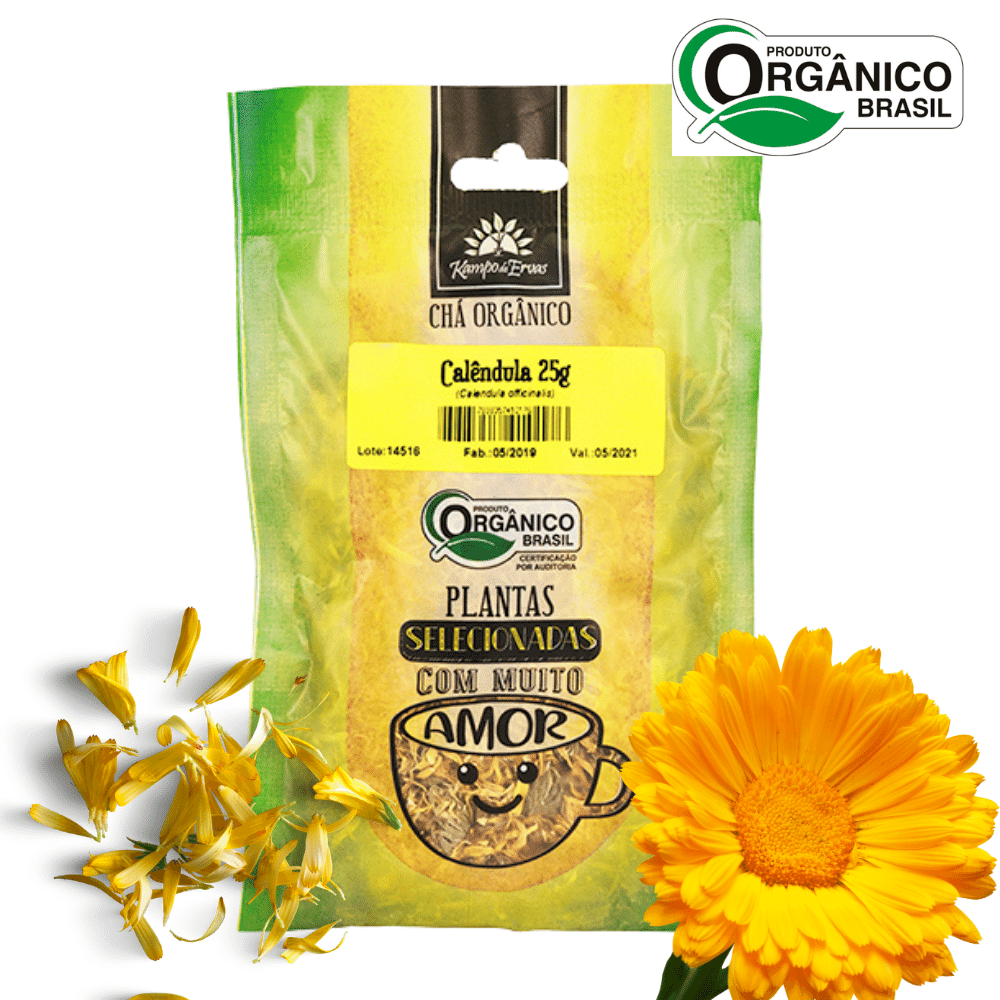 Chá de Calêndula PURA Flor 25 g - Orgânica e Certificada