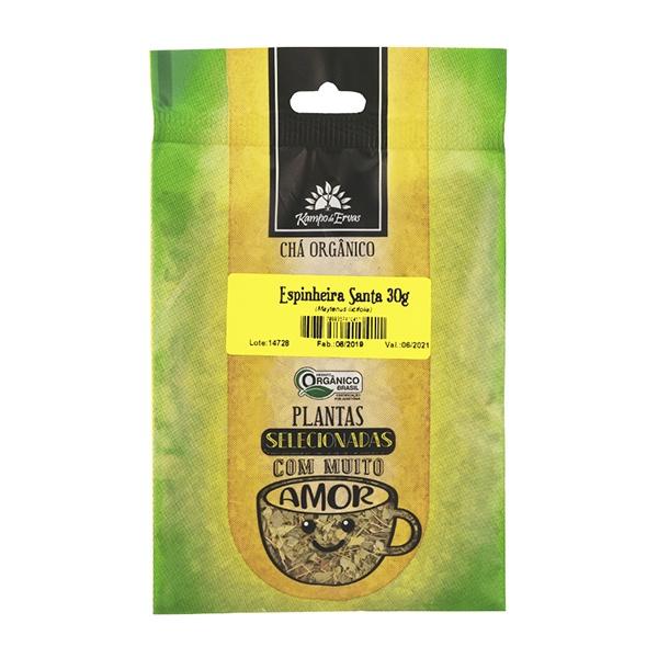 Espinheira Santa Chá Orgânico PURO 100 % Folhas 30 g Kampo