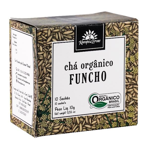 Funcho Orgânico Chá Certificado 10 sachês Kampo de Ervas