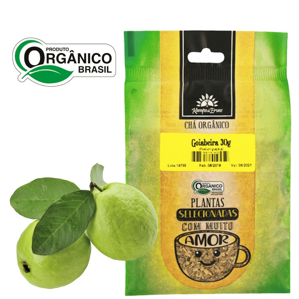 Goiabeira Chá Orgânico das Folhas Kampo de Ervas 30 gramas