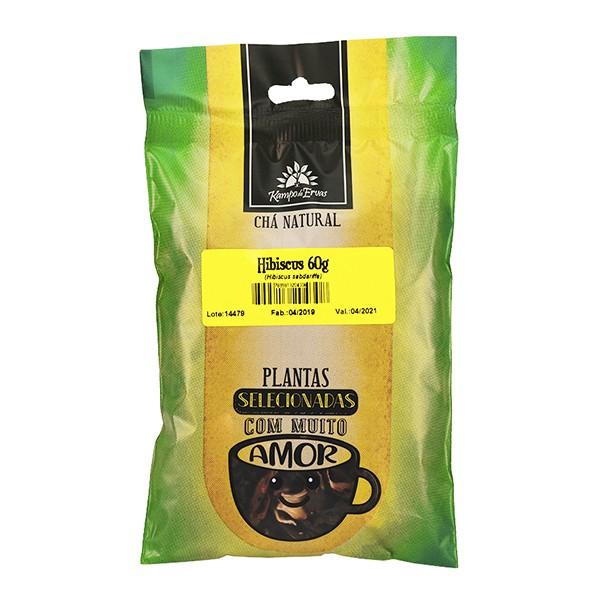 Hibisco Chá Orgânico 100 % Flores Kampo de Ervas 30 gramas