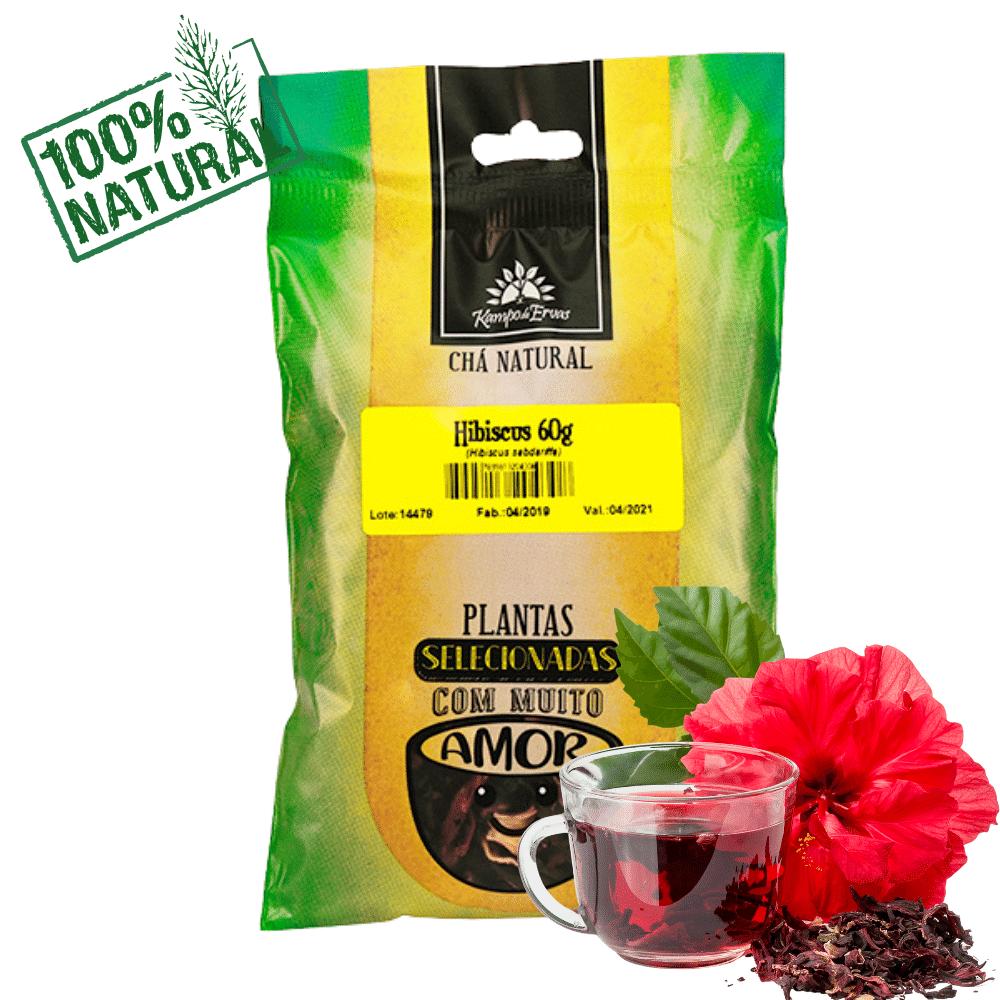 Hibisco Chá PURO 100 % Natural só Flores 60 g