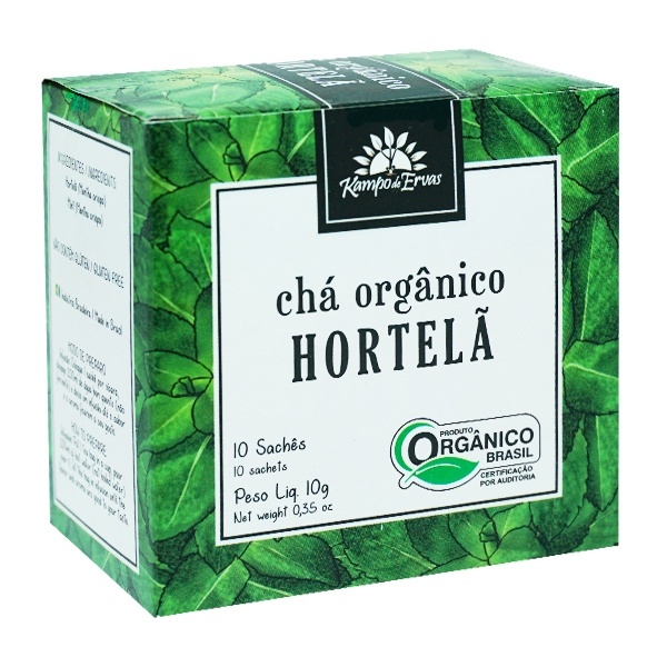 Hortelã Chá Orgânico e Certificado 10 sachês Kampo de Ervas