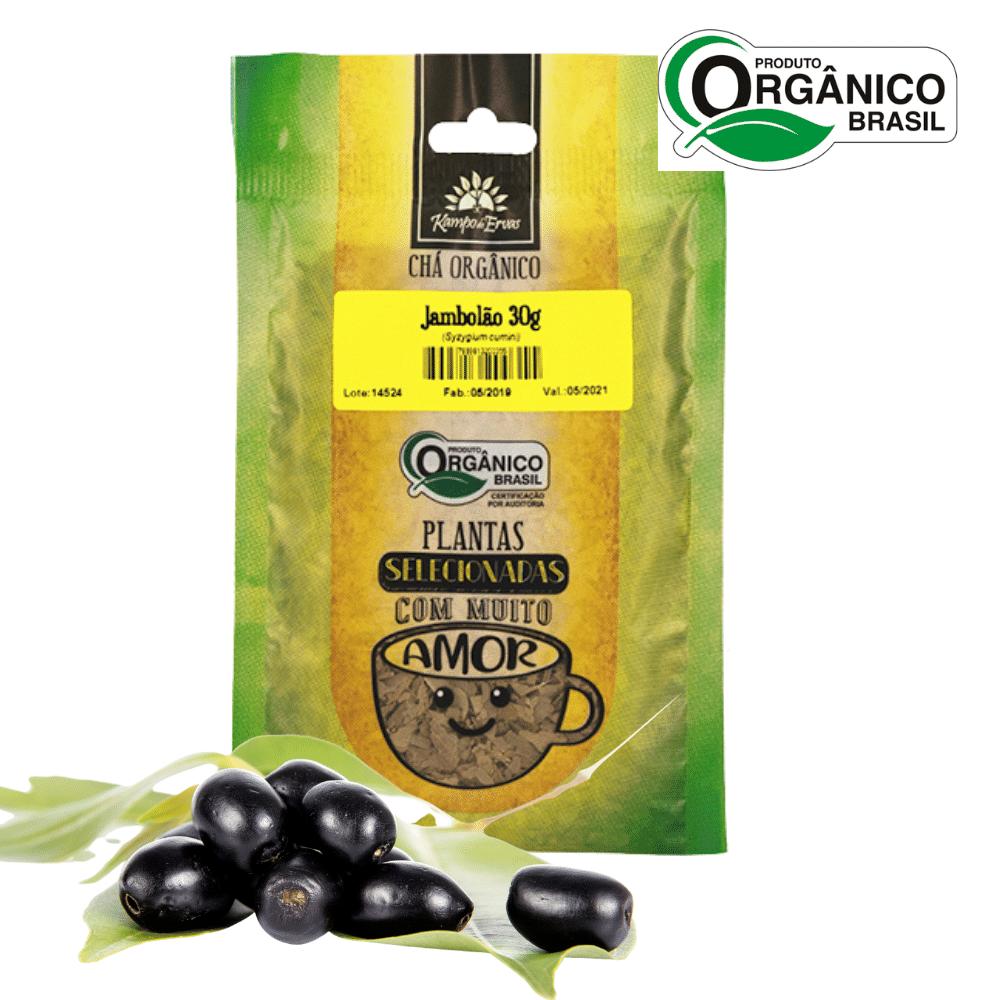 Chá de Jambolão 100 % Folhas 30 g - Orgânico e Certificado