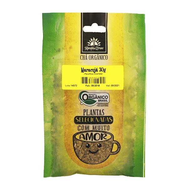 Maracujá Chá PURO 100% Folhas 30 g - Orgânico e Certificado
