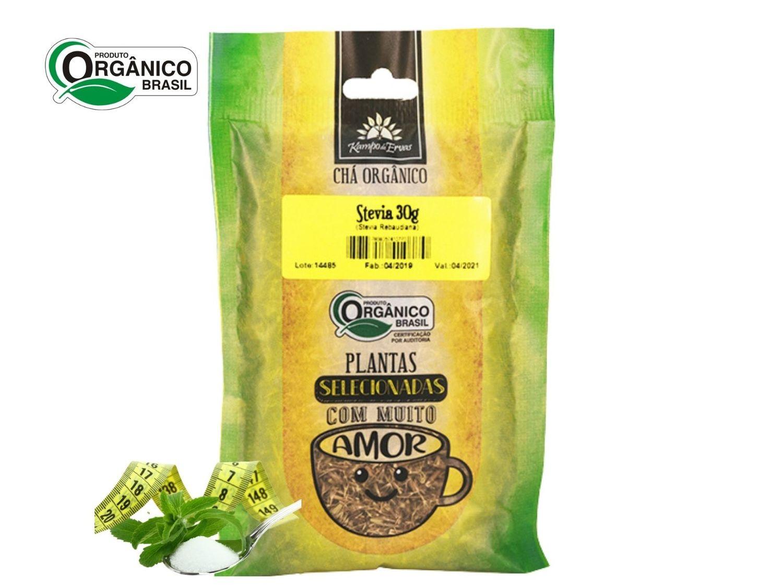 Stévia Chá Orgânico 100 % Folhas Kampo de Ervas 30 gr
