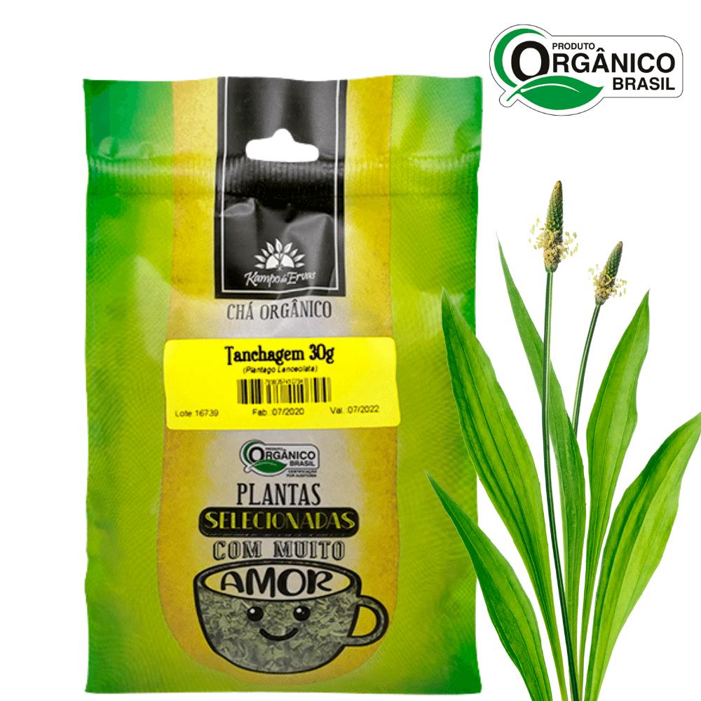 Chá de Tanchagem 100 % Folhas 30 g Orgânica e Certificada