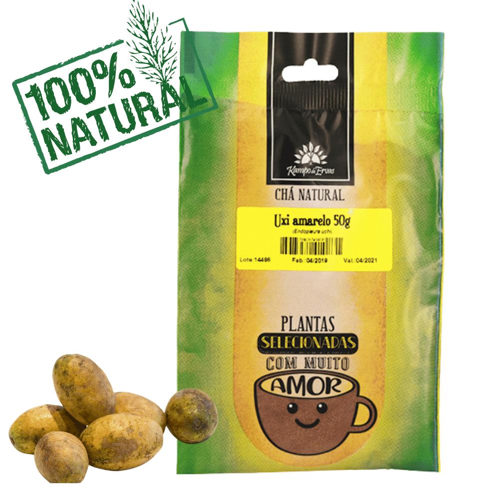 Chá de Uxi Amarelo PURO 100% pó da casca 56 g Kampo de Ervas