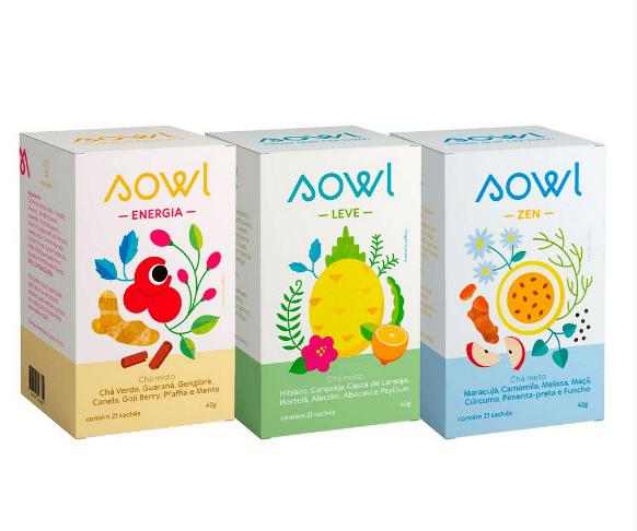 Chá Energia Leve e Zen Sowl Kit Ritual Faz Bem 63 sachês