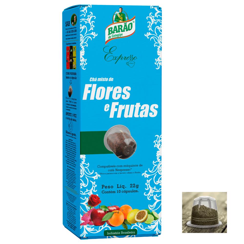 Chá Flores e Frutas Cápsula Barão Expresso 10 cápsulas 22g