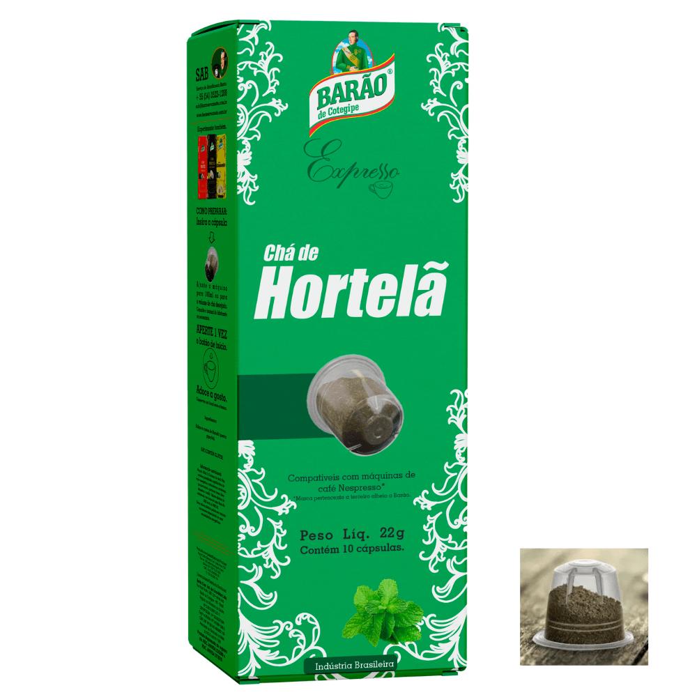 Chá Hortelã Cápsula Barão de Cotegipe Expresso 10 cáps 22g