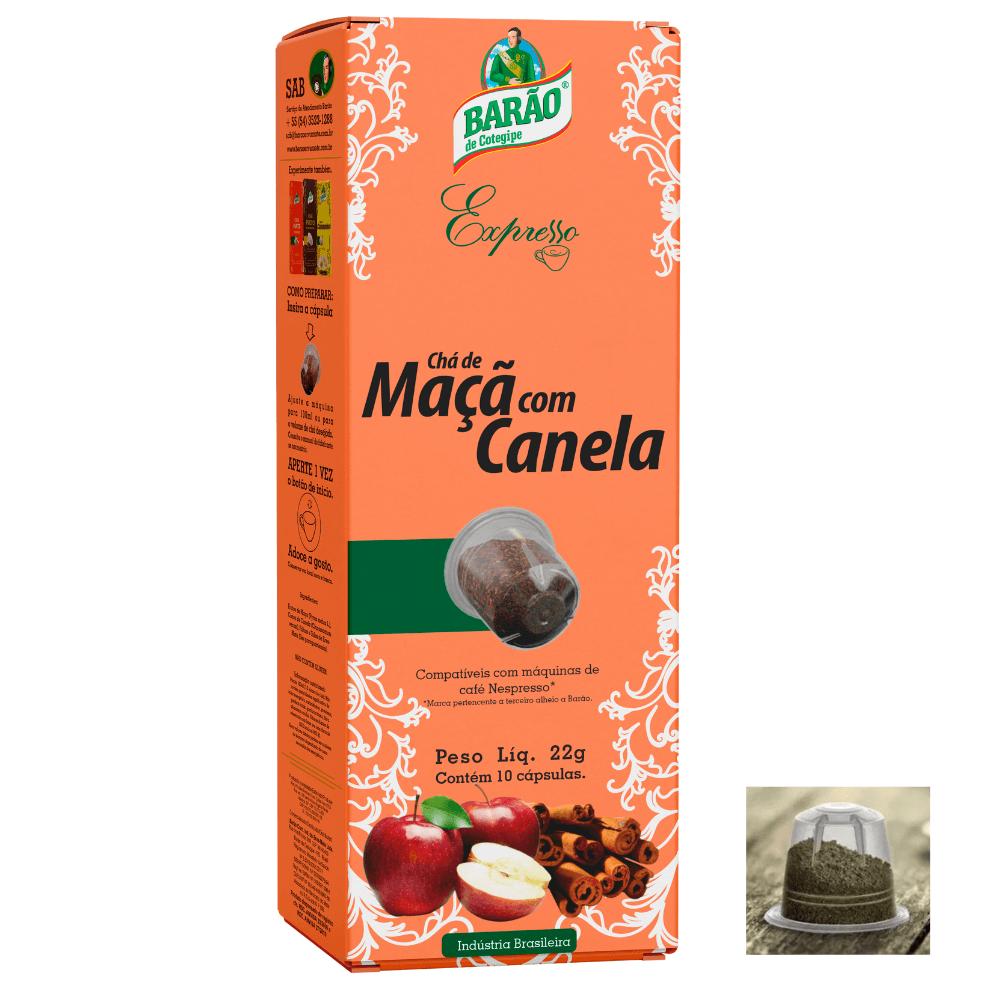 Chá Maçã com Canela Cápsula Barão Expresso 10 cápsulas 22g