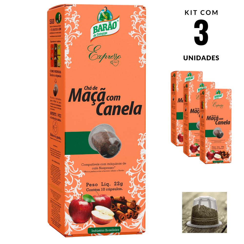 Chá Maçã com Canela Cápsula Barão Expresso 30 cápsulas 66g