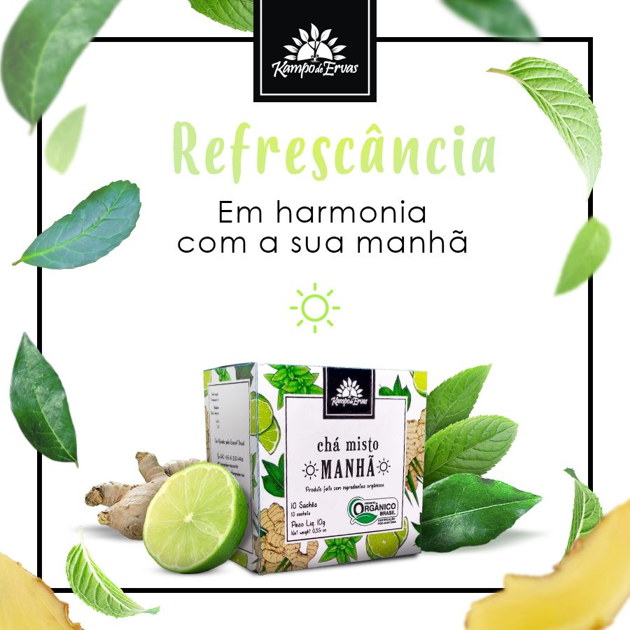 Chá misto para MANHÃ - 10 sachês - Orgânico e Certificado
