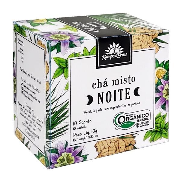 Chá misto para NOITE - 10 sachês - Orgânico e Certificado