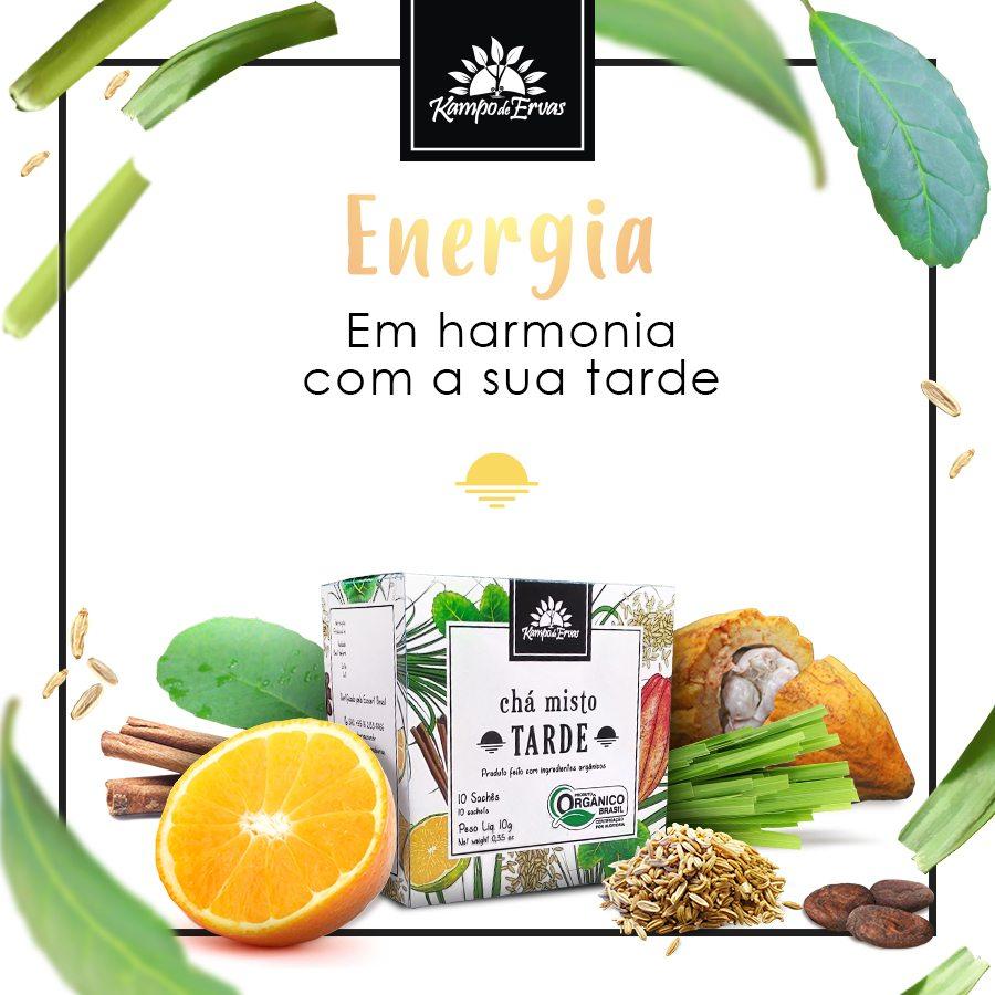 Chá misto para TARDE - 10 sachês - Orgânico e Certificado