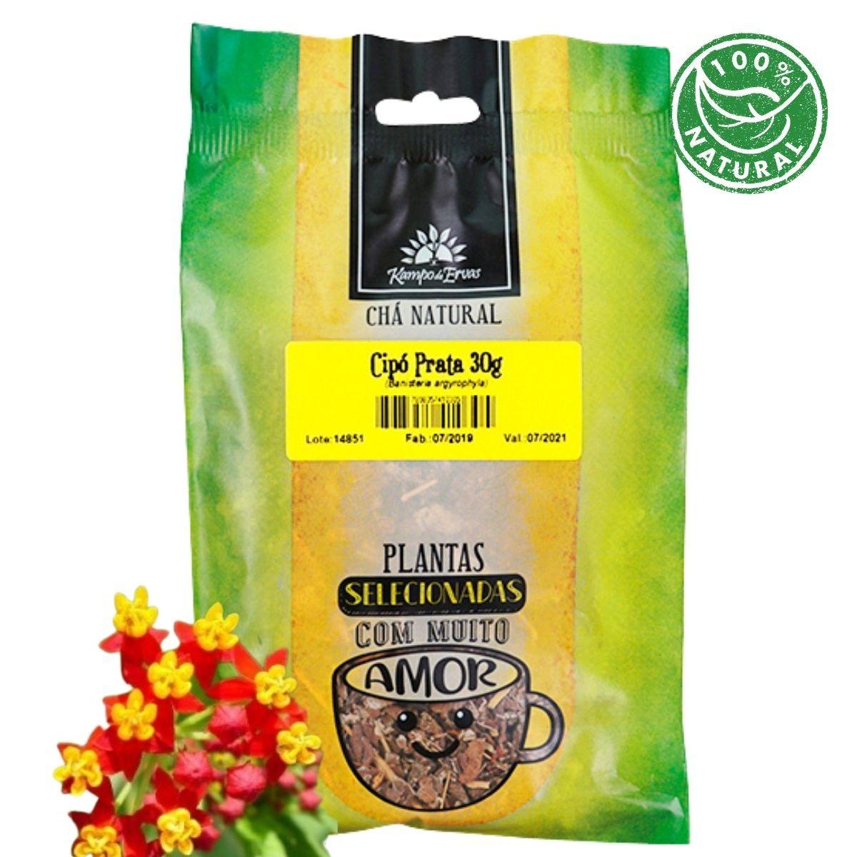 Cipó Prata Chá Folhas, raizes, e caules Kampo de Ervas 30 gr