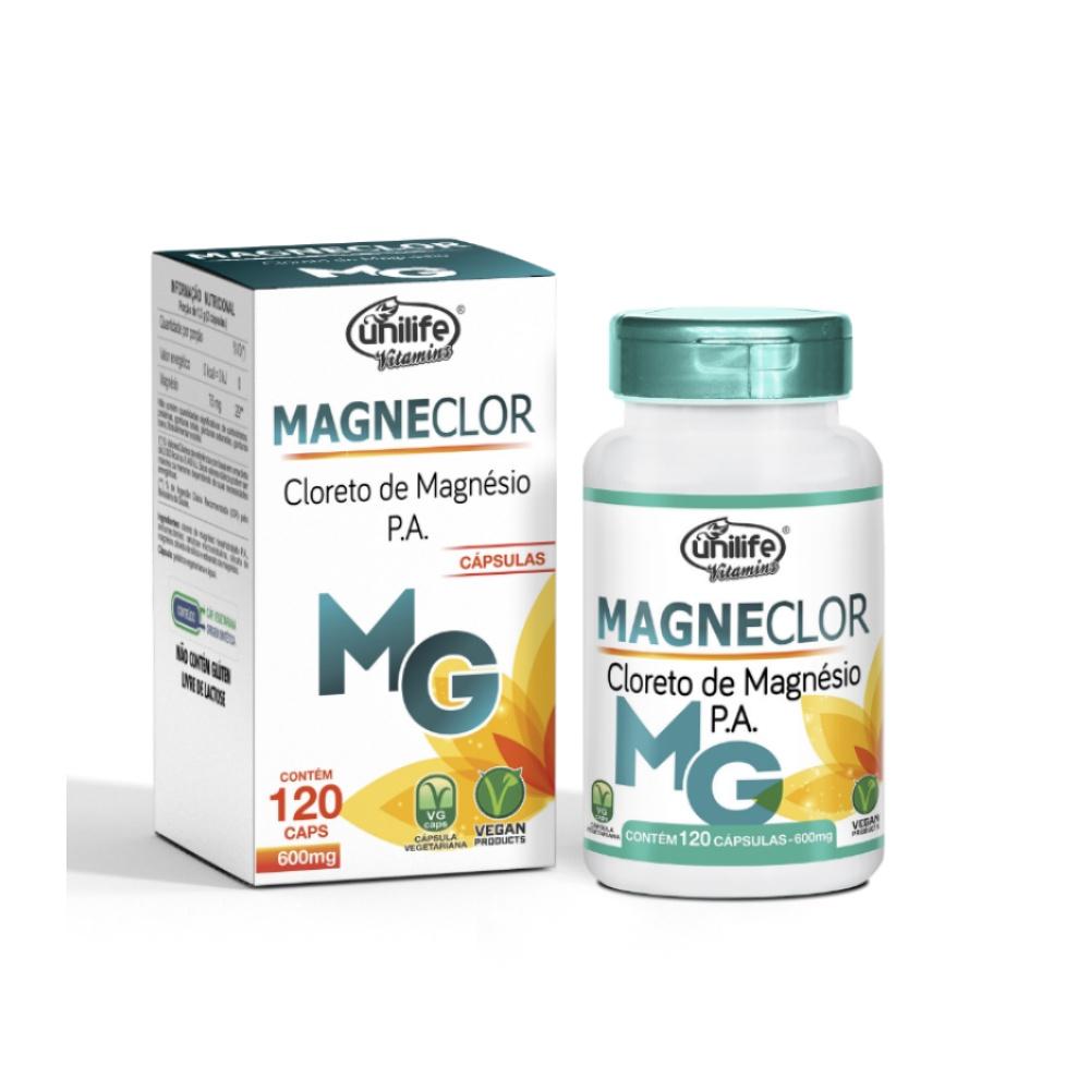 Cloreto De Magnésio 600mg 120 Cáps - Unilife Alta Qualidade