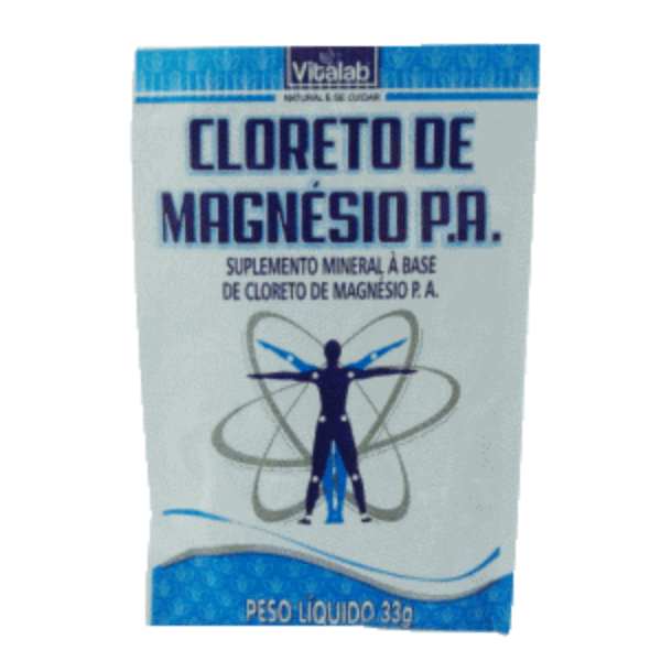Cloreto Magnésio P.A – Sachê 33g – VitaLab