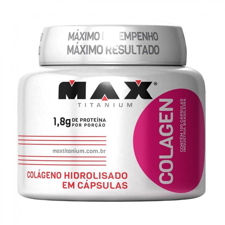 Colageno Hidrolisado Colagen Com 100 Cápsulas Max Titanium