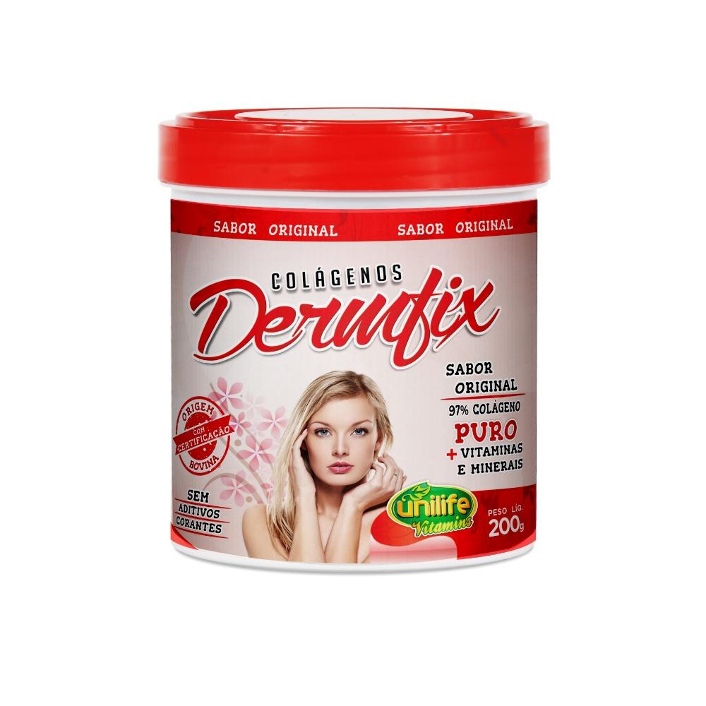 Colágeno Hidrolisado Dermfix 200g - Unilife + Vtaminas