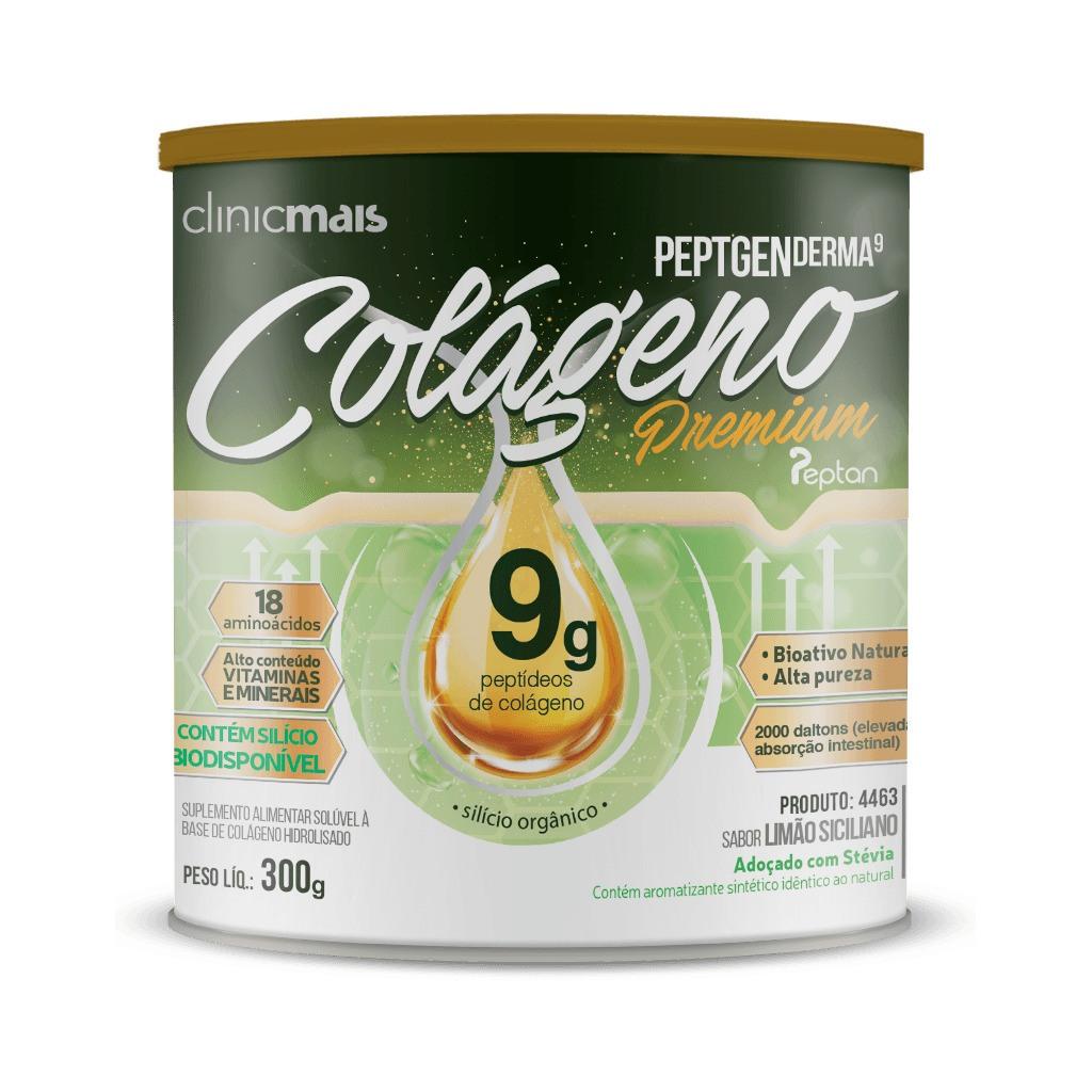 Colágeno Peptgen Derma 9 Premium Limão Siciliano 300g