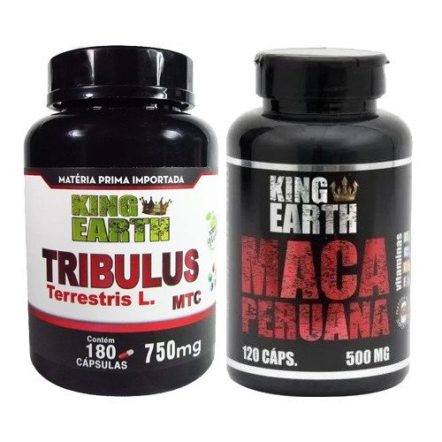 Combo Tribulus Terrestris 180 caps + Maca Peruana King Earth