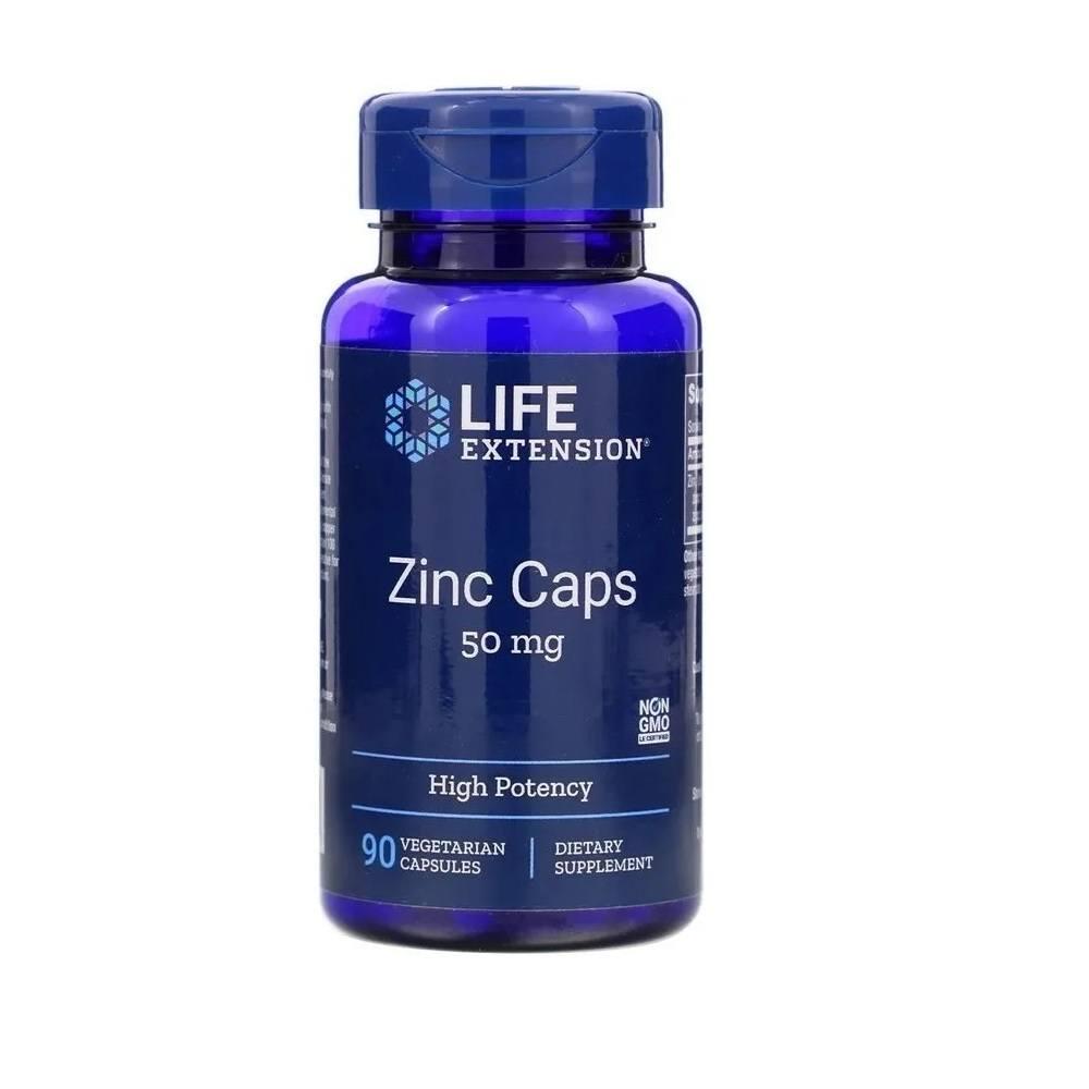 Complexo Zinco 50 mg 90 Cáps. Life Extension