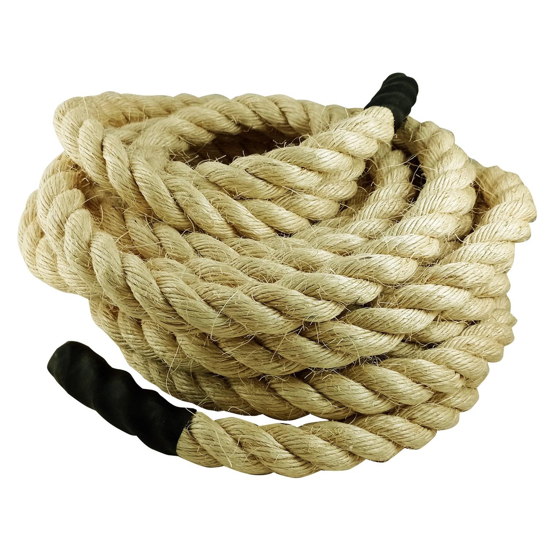 Corda Naval Crossfit Climb Rope Sisal 32mm 20 Mts