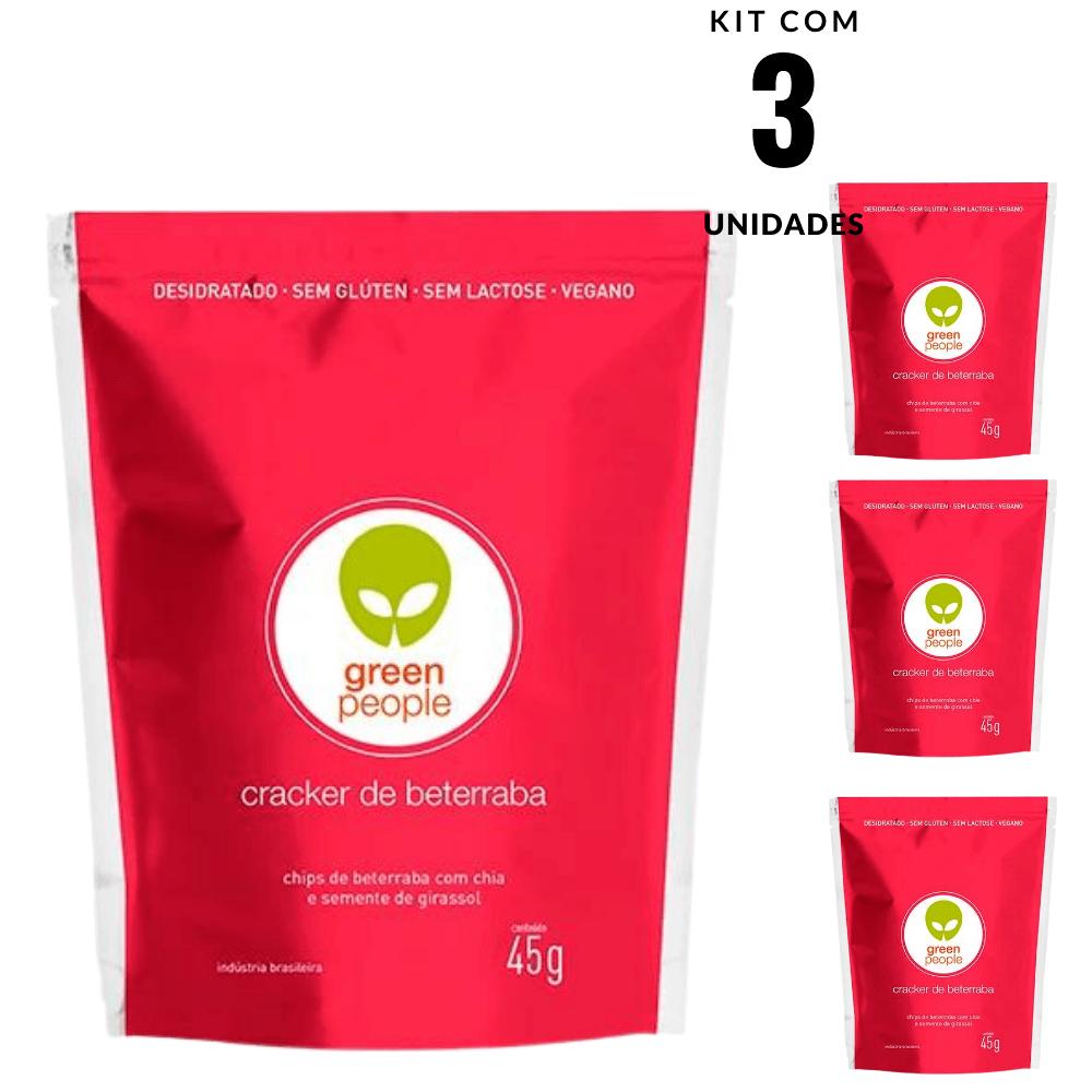 Cracker de Beterraba Desidratado Greenpeople 3 und 45gr cada