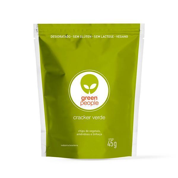 Cracker Verde Snack Desidrat Vegano Greenpeople 45gr