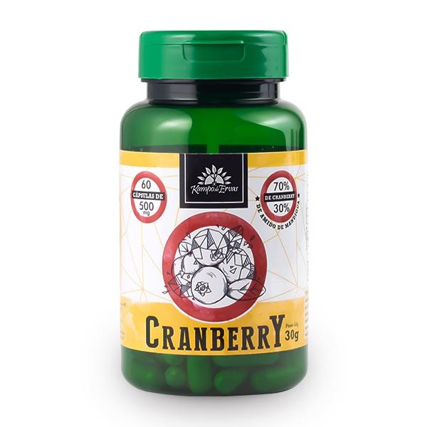 Cranberry 60 cápsulas de 500 mg cada 70 % Frutos