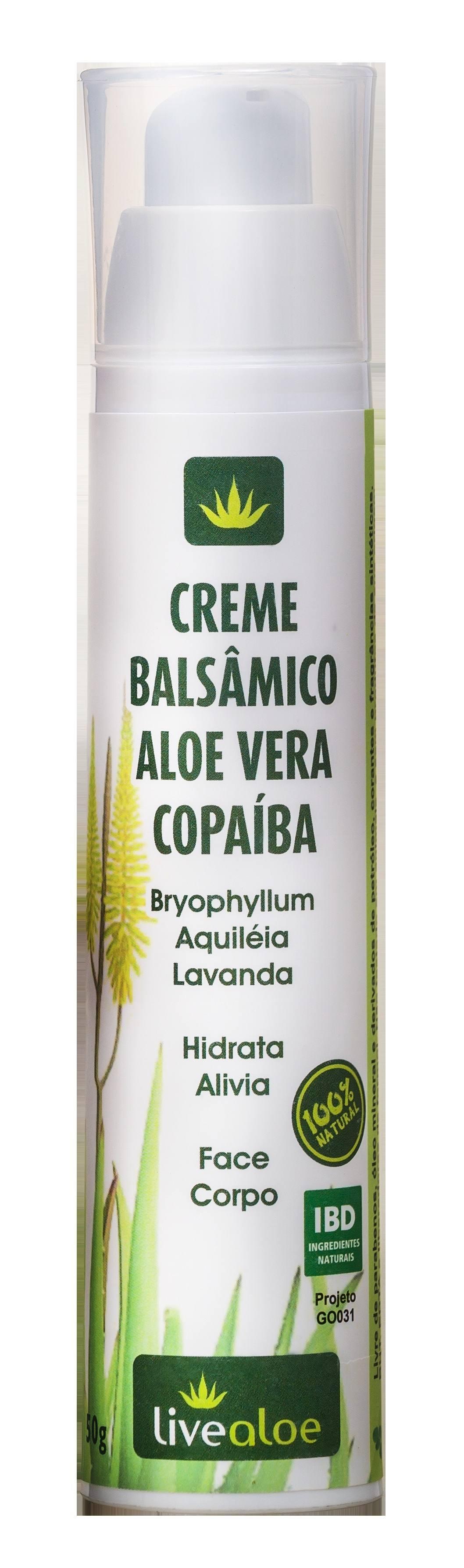 Creme Para Massagens: Balsâmico Aloe Copaíba