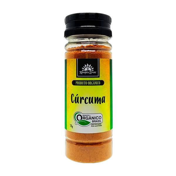 Cúrcuma Pura Orgânica e Certificada frasco 70g Cúrcuma Longa
