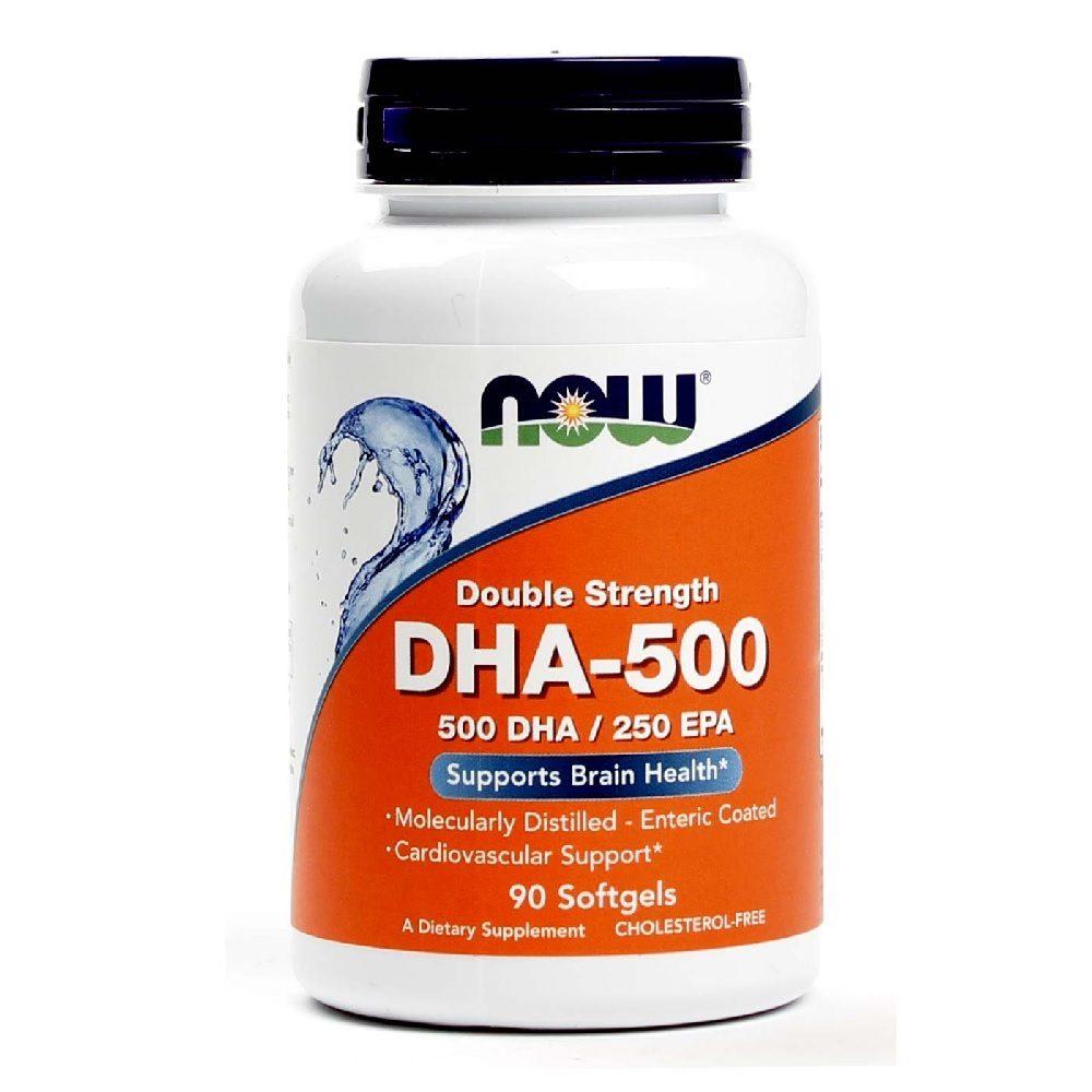 DHA  500 Omega 3 90 Softgels Now Foods